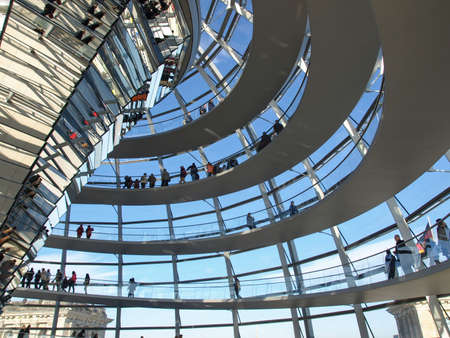 BERLIN, GERMANY - OCTOBER 23, 2010: People visiting the German Parliament aka Reichstag