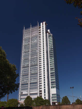 TURIN, ITALY - AUGUST 14, 2014: The new San Paolo bank headquarters designed by Renzo Piano and currently under construction are the highest skyscraper in town