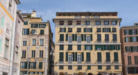 View of Genoa old town in Italy