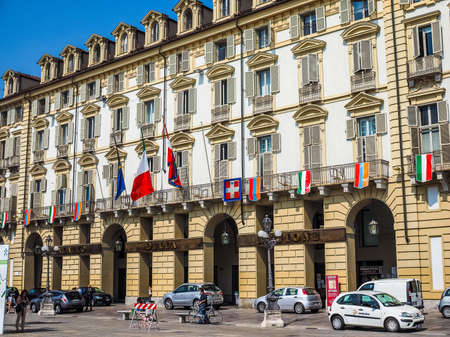 TURIN, ITALY - JUNE 19, 2015: Palazzo della Regione is the seat of regional administration of Regione Piemonte meaning Piedmont (HDR)