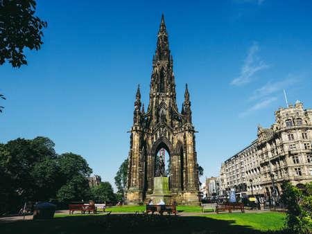 EDINBURGH, UK - CIRCA JUNE 2018: Sir Walter Scott monument