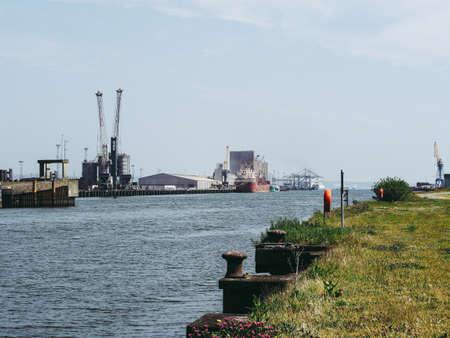 BELFAST, UK - CIRCA JUNE 2018: Belfast Harbour maritime hub