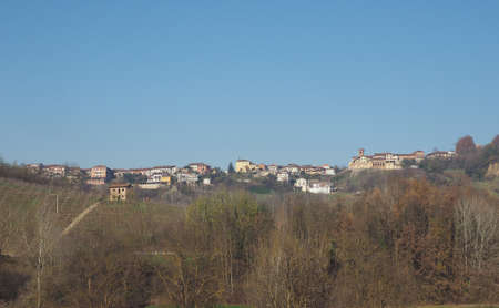 View of the city of Monta D'alba, Italy
