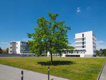 Photo pour DESSAU, GERMANY - CIRCA JUNE 2019: The Bauhaus art school iconic building designed by architect Walter Gropius in 1925 - image libre de droit