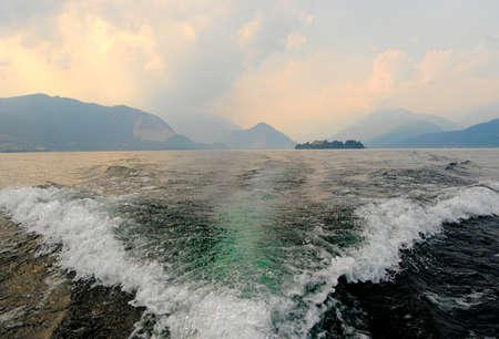 Foto per Ship water trace - Immagine Royalty Free