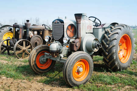 ROSA ', Vicenza, ITALY - MARCH 20, 2016. Day annual plowing with antique tractors