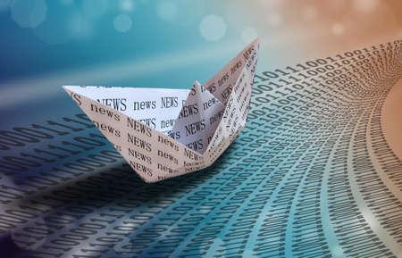 Paper boat - internet concept