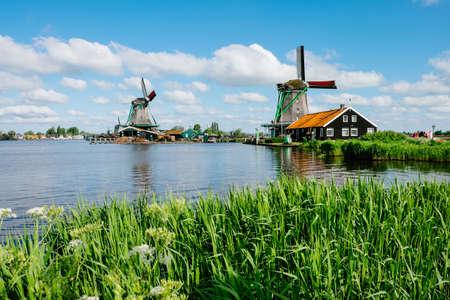 Foto per Zaanse Schans windmills - Netherlands - Immagine Royalty Free