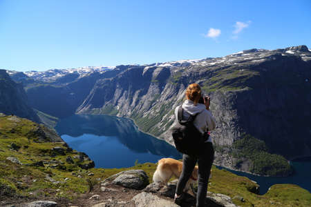 Photo for The way to Trolltunga, Norway - Royalty Free Image