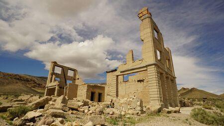 Ruins of Rhyolite Nevada ghost town