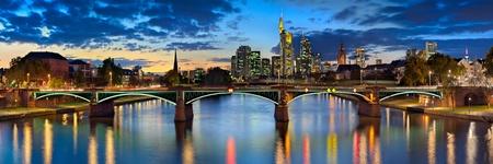 Frankfurt Night Skyline Wall Mural