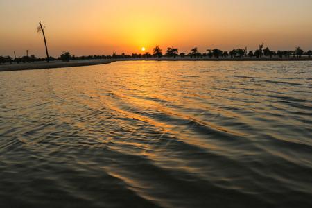 Sunset at al qudra lake