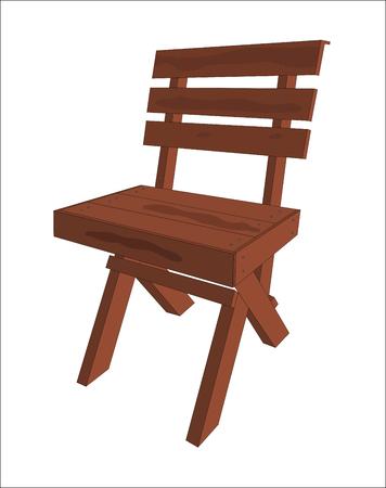 Wood Chair illustration.