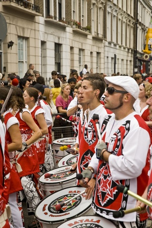 Batala, Banda de Percussao, performing at Notting Hill Carnival