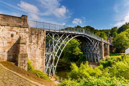 The Iron Bridge over the River Severn, Ironbridge Gorge, Shropshire, England.