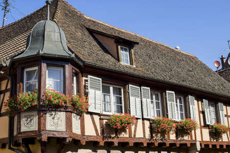 Andlau (Bas-Rhin, Alsace, France) - Exterior of ancient half-timbered house