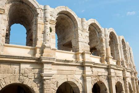 Arles (Bouches-du-Rhone, Provence-Alpes-Cote d'Azur, France) - Les Arenes, the Roman Amphitheatre
