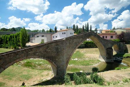 Modigliana (Forli Cesena, Emilia Romagna, Italy): the medieval bridge known as Ponte di San Donato, or Ponte della Signora
