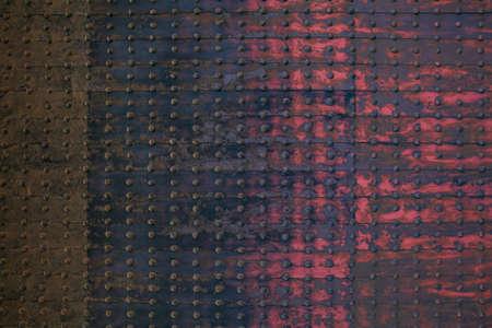 Photo pour wall of old metal - image libre de droit