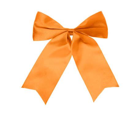 Photo for Orange bow isolated on white background. - Royalty Free Image