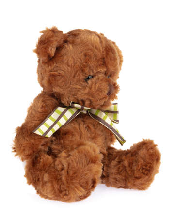 Photo pour teddy bear doll isolated on white background. - image libre de droit