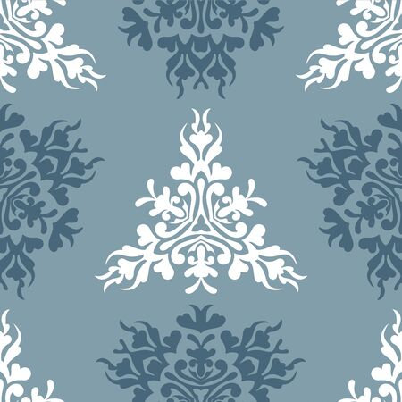 Vector blue royal spring seamless seasonal background