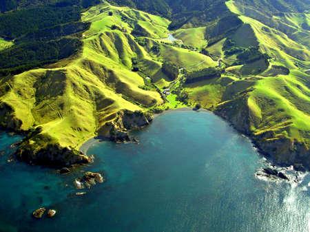 Photo pour Northland Coastline Aerial, New Zealand - image libre de droit