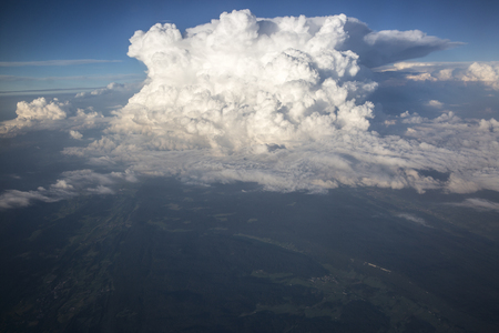 White fluffy storm clouds