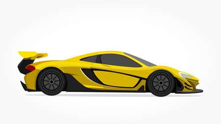 Ilustración de cool car vector illlustration with details and shadow effect - Imagen libre de derechos