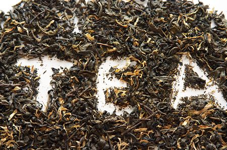 Green china tea background
