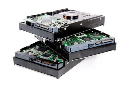 Photo pour pile of computer harddrives - image libre de droit