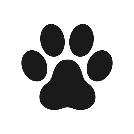 Illustration for paw icon dog paw cat paw logo footprint vector illustration - Royalty Free Image