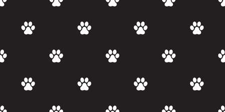 Paw Seamless Pattern Dog Paw Cat Paw Vector Isolated Wallpaper