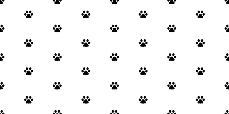 paw seamless pattern dog paw cat paw bulldog vector isolated background wallpaper