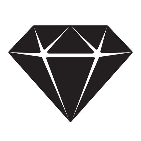 diamond vector gem icon logo illustration jewelry