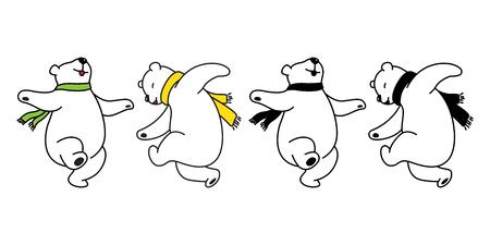 Foto per Bear vector logo icon polar bear panda dancing teddy illustration cartoon doodle cute - Immagine Royalty Free