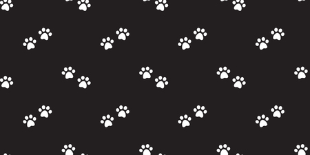 Dog Paw Seamless Pattern vector Cat Paw puppy kitten footprint background repeat wallpaper