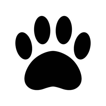 Illustration pour dog paw vector icon french bulldog footprint cartoon bear cat illustration clip art - image libre de droit