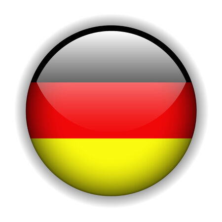 German flag glossy button, vector