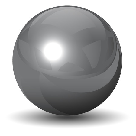 metallic chrome sphere, ball glossy and shining.