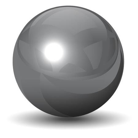 metallic chrome sphere, ball glossy and shining.
