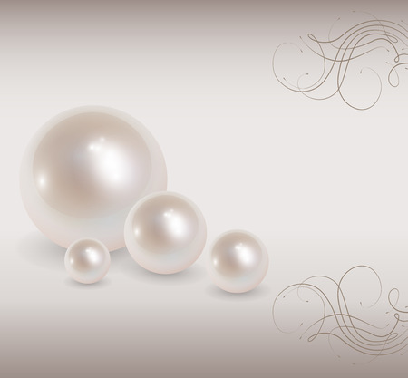 Love background with pearls, romantic and elegant