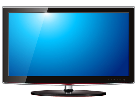 TV flat screen lcd, plasma realistic   illustration.