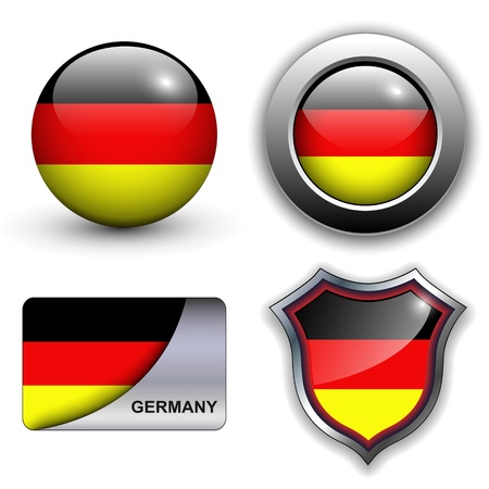German flag icons theme.