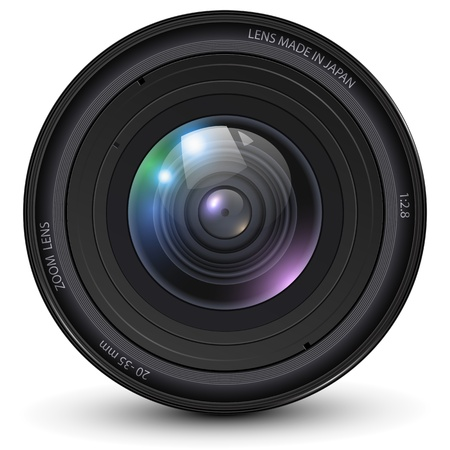 Camera photo lens illustration.