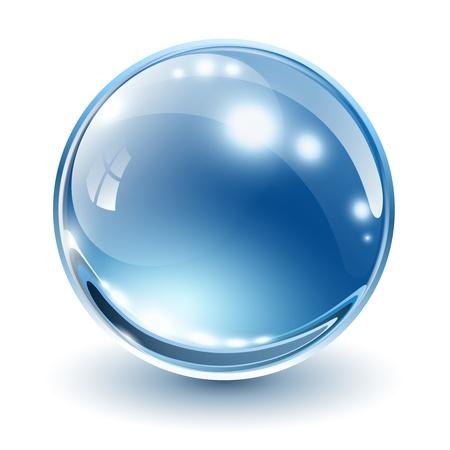 Illustration pour 3D glass sphere, vector illustration. - image libre de droit
