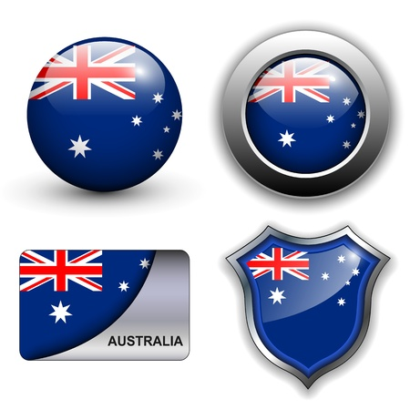 Vektor für Australia flag icons theme. - Lizenzfreies Bild