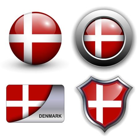 Denmark flag icons theme.