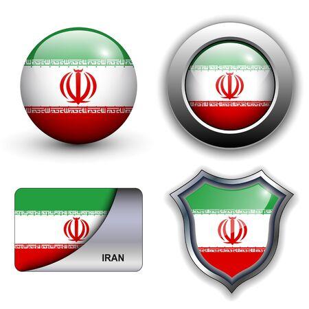 Iran flag icons theme.
