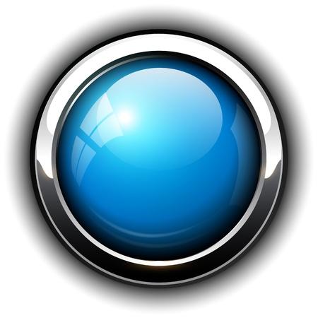 Blueshiny button, design.